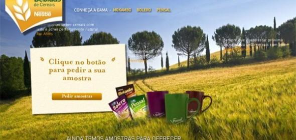 Amostras grátis de bebidas de cereais Nestlé