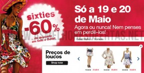 Descontos de 60% na Desigual