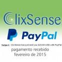 Pagamento Clixsense Fevereiro 2015