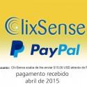 Pagamento Clixsense Abril 2015