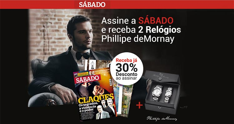 Photo of Assinatura Sábado – 2 Relógios Grátis e 30% de Desconto