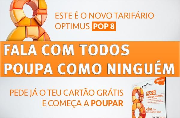Photo of Pede o teu cartão Optimus POP Grátis