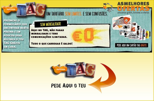 Photo of Pede o teu cartão Optimus TAG Grátis