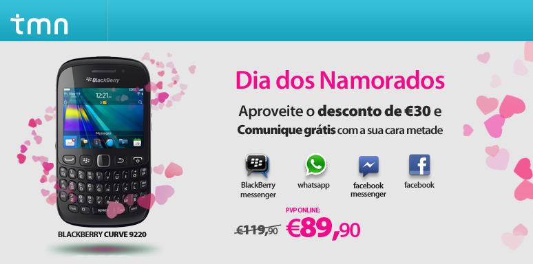 30 Euros de Desconto BalckBerry Curve TMN
