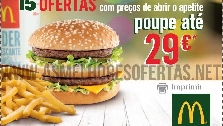 Novas Ofertas McDonalds 30 Euros de Descontos