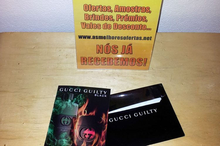 Amostras Gratis de Perfumes Guccy Gulty Recebidas