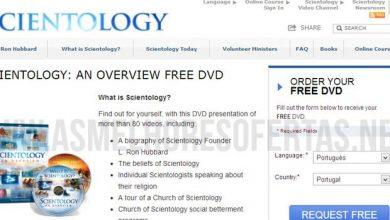 DVD Grátis sobre a Cientologia