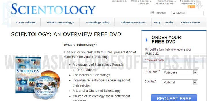Photo of DVD Grátis sobre Cientologia