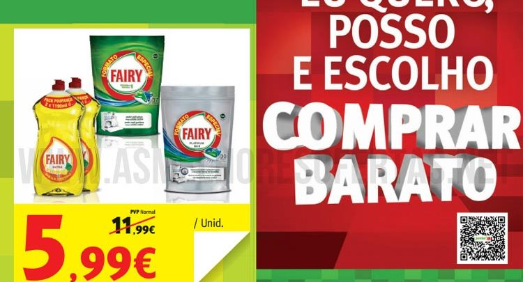 Photo of Desconto de 50% Fairy no novo Folheto do Jumbo
