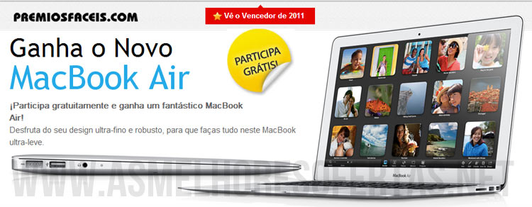 Photo of Passatempo Ganha 1 MacBook Air da Apple