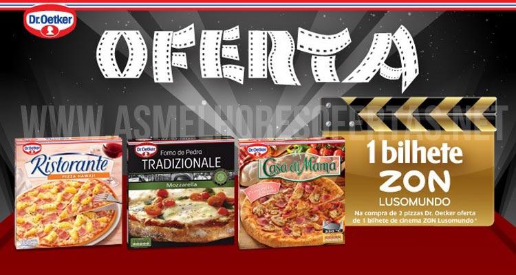 Bilhetes de Cinema Grátis com Pizzas Dr Oetker
