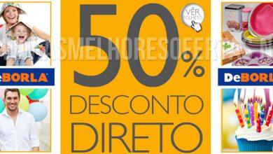50% de Desconto Directo Lojas DeBorla