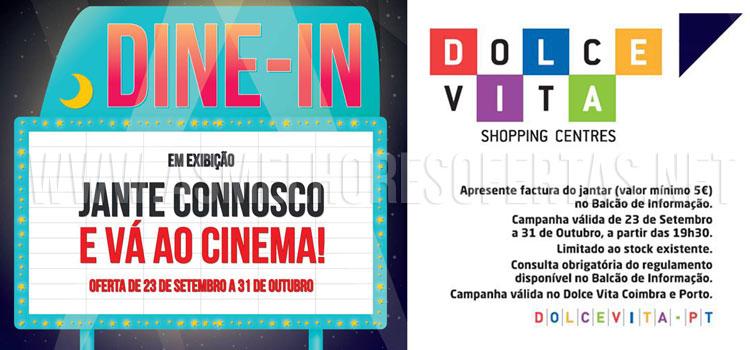 Bilhetes de Cinema Grátis nos Dolce Vita Coimbra e Porto