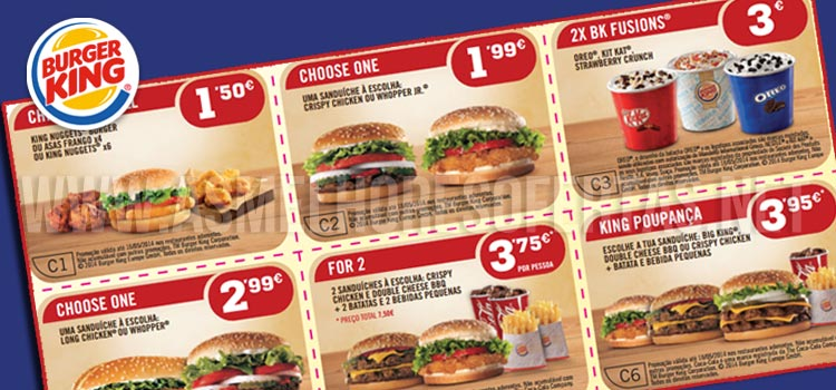 Photo of Vales de Desconto Burger King Abril 2014