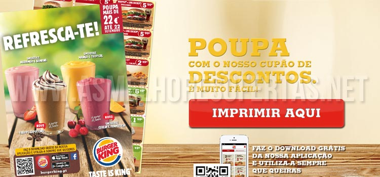 Photo of Cupões de Desconto Burger King Setembro 2014