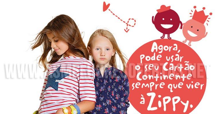 Cartão Continente nas Lojas Zippy