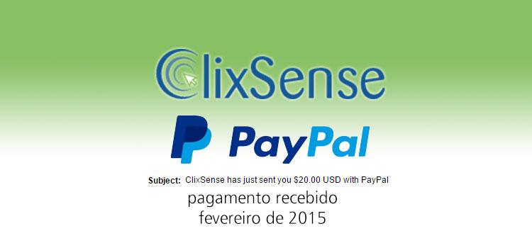 Photo of Pagamento Clixsense Fevereiro 2015