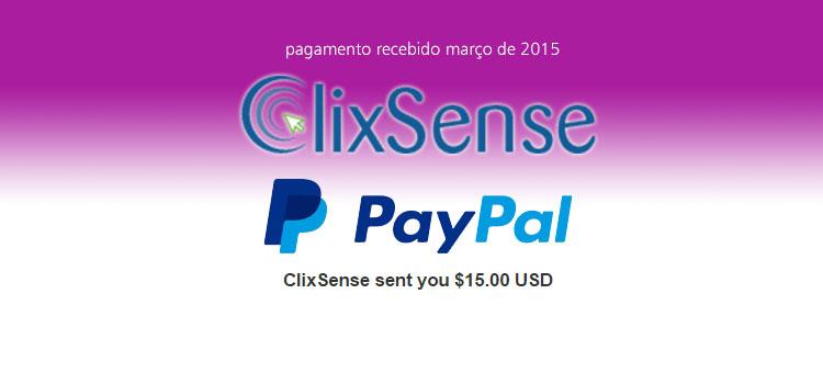 Pagamento Clixsense Março 2015