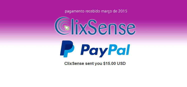 Photo of Pagamento Clixsense Março 2015
