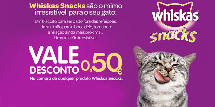 Vale de Desconto Whiskas Snacks