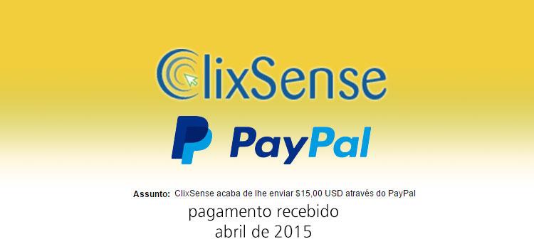 Photo of Pagamento Clixsense Abril 2015