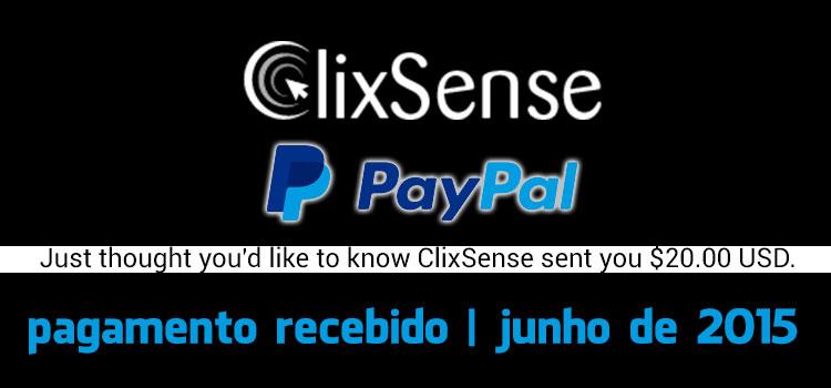 Photo of Pagamento Clixsense Junho 2015