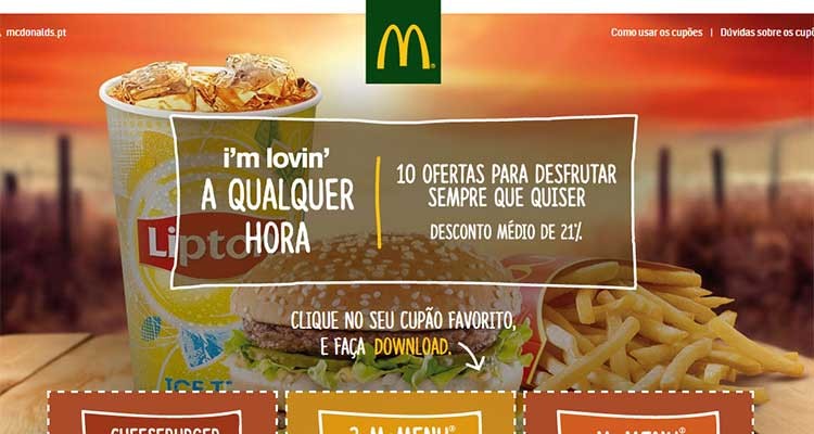 Photo of Cupões McDonald's Setembro 2015