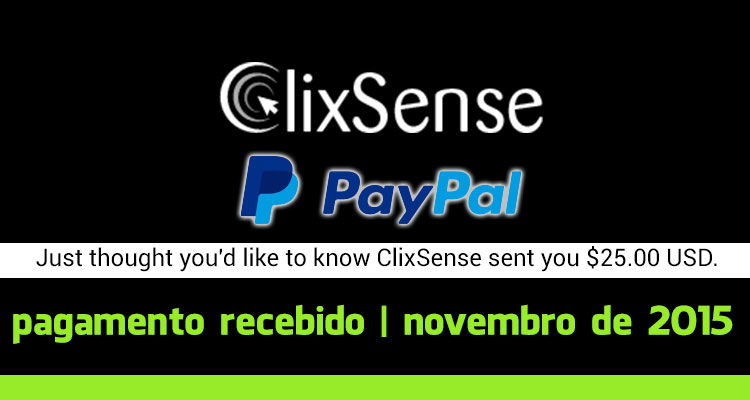 Photo of Pagamento Clixsense Novembro 2015