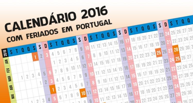 Photo of Calendário 2016 com Feriados Portugal