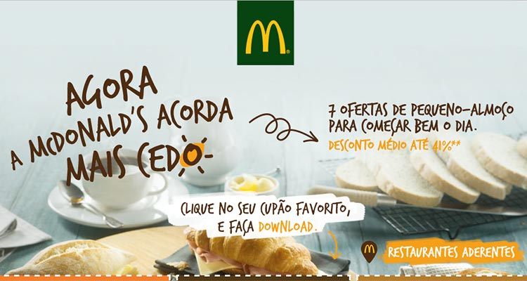 Photo of Cupões McDonald's Pequeno-Almoço