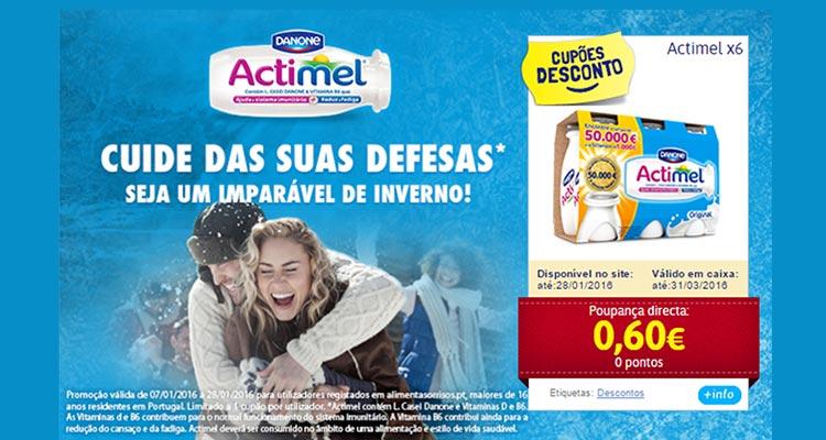 Photo of Cupão Danone Actimel 0 Pontos