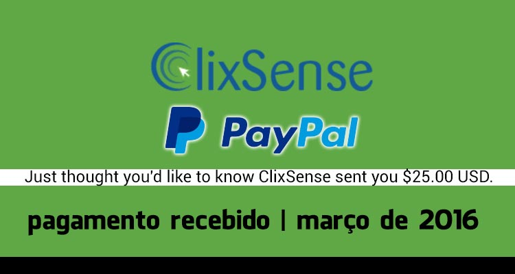 Photo of Pagamento Clixsense Março 2016