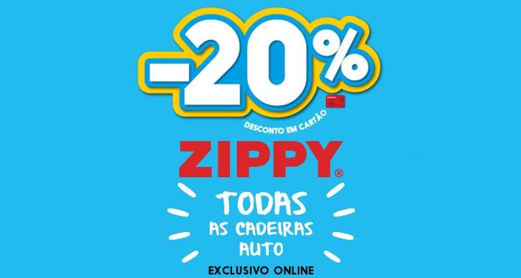 20% de Desconto Cadeiras Auto Zippy