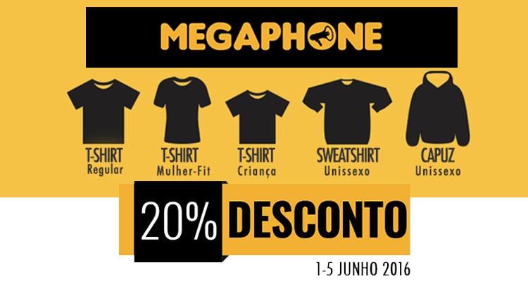 20% de Desconto Megaphone