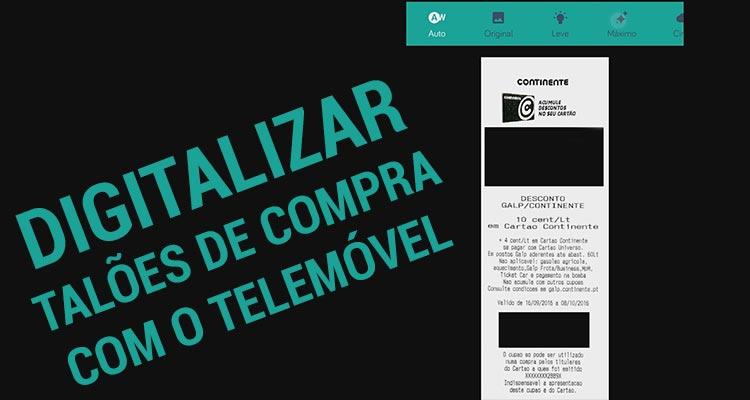Photo of Como Digitalizar Talões de Compras