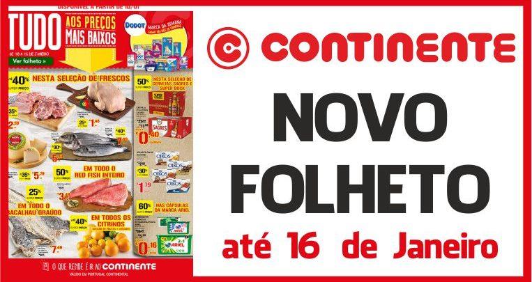 Folheto Continente até 16-01-2017