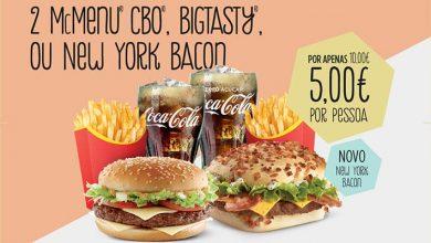 Cupão McDonald's 2 Menus
