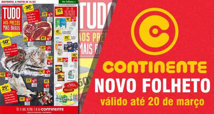 Folheto Continente até 20-03-2017