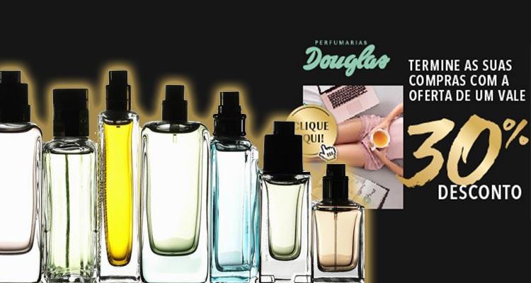 Desconto de 30% Perfumarias Douglas