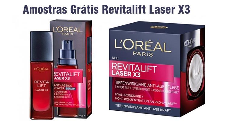 Amostras Revitalift Laser X3