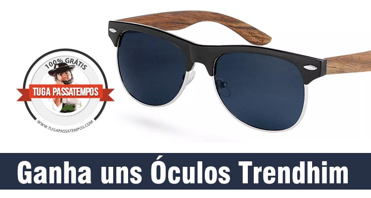 65a28e56c Ganha 1 Óculos de Sol Trendhim · Passatempos