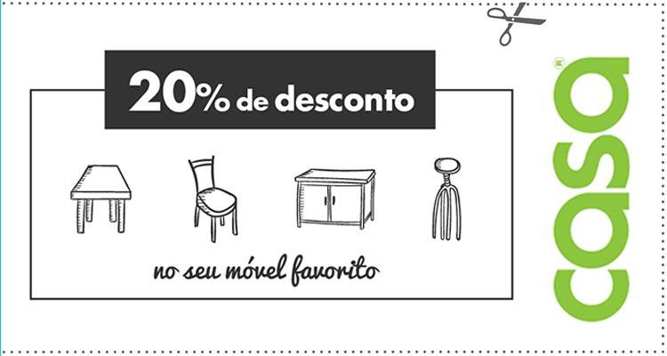 20% de Desconto em Móveis Lojas Casa
