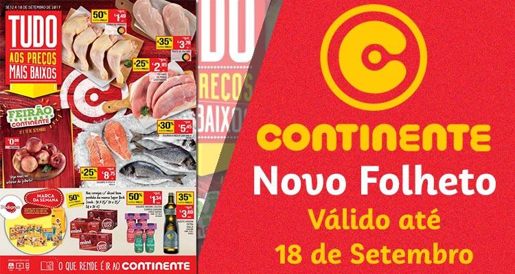Folheto Continente até 18-09-2017