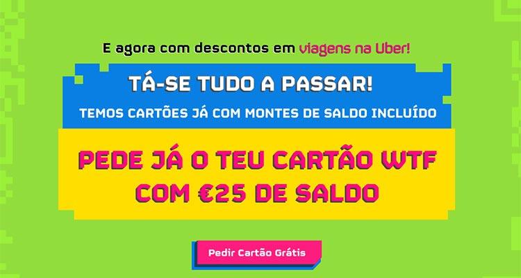 Photo of Cartão WTF com 25 Euros de Saldo