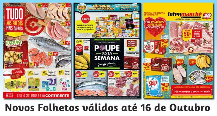 Folhetos Continente, Pingo Doce e Intermarché até 16-01-2017