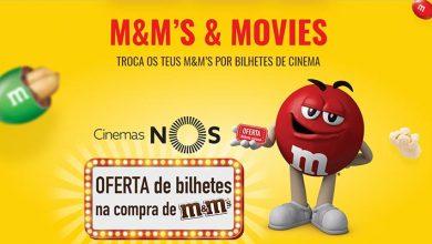 Bilhetes de Cinema Grátis M&M