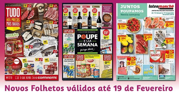 Novos Folhetos Supermercados até 19-02-2018