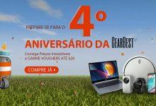 Promoção 4.º Aniversário da Gearbest