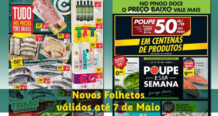 Novos Folhetos Continente e Pingo Doce até 14-05-2018