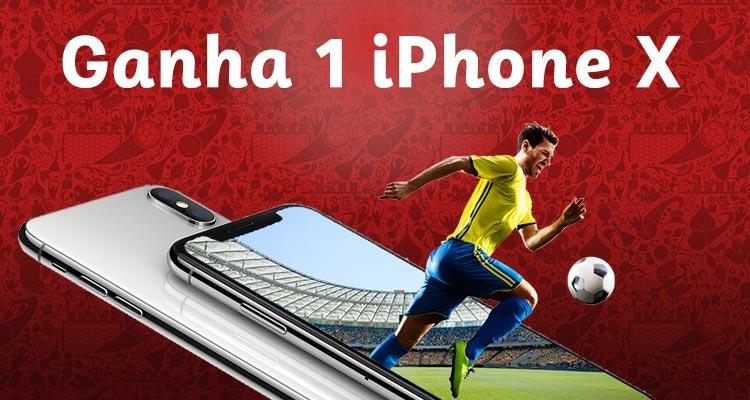 Ganha 1 iPhone X - Passatempo Mundial da Rússia